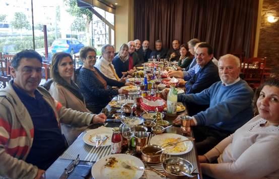 15.12.2019 - Γεύμα εργασίας των μελών της GIBA
